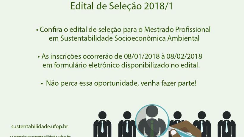 Edital de Seleção 2018/1